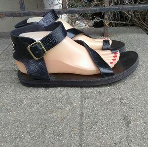 Caleen Cordero Leather Toe Ring Sandals